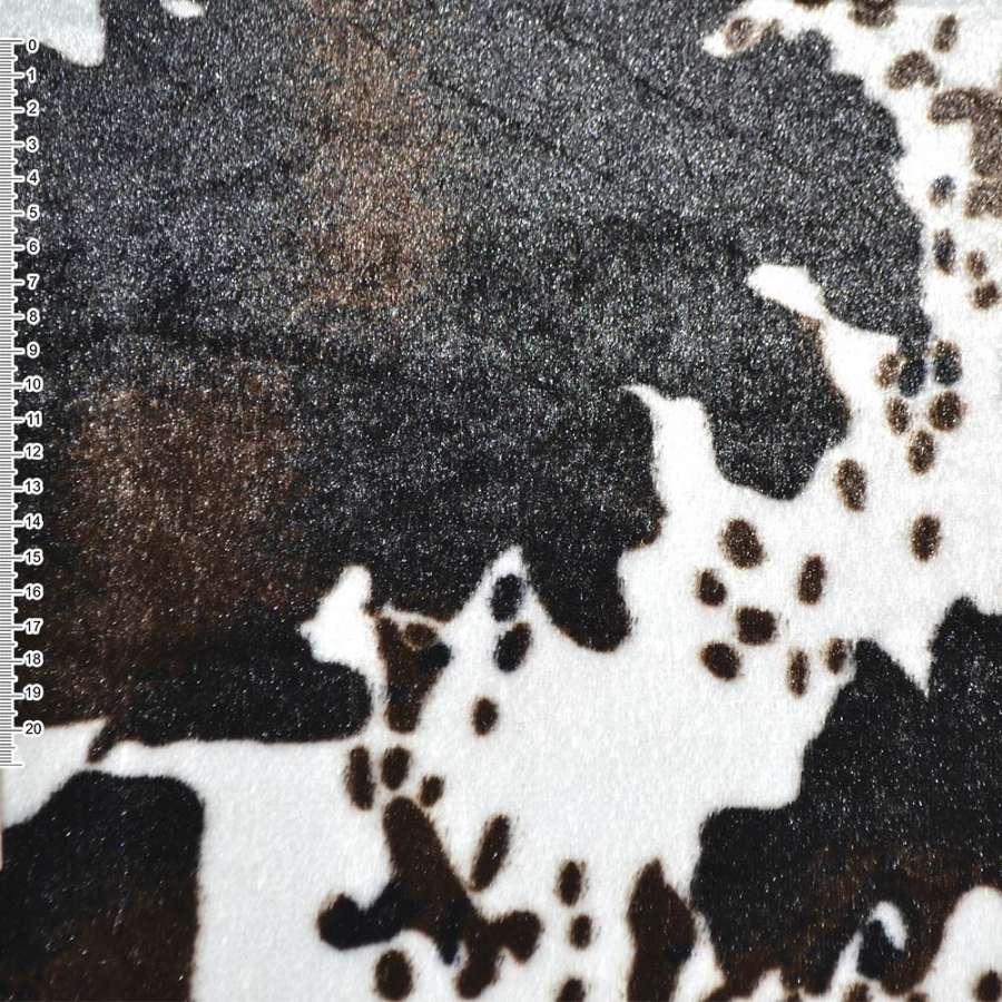 """мех белый с т/коричневым """"корова"""" с/ворс  ш.170"""