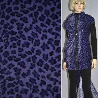 "Хутро штучне фіолетове з чорним ""леопард"" ш.160"