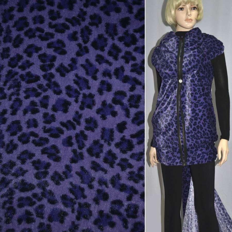 """мех фиолетовый с черным """"леопард"""" ш.160"""