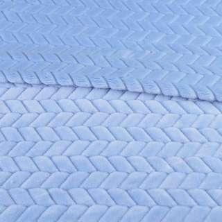 хутро штучний косичка з прорізами блакитний ш.165