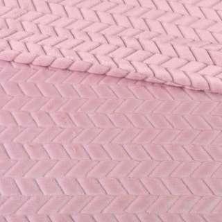хутро штучний косичка з прорізами рожевий ш.170