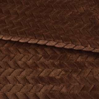 хутро штучний косичка з прорізами коричневий ш.165