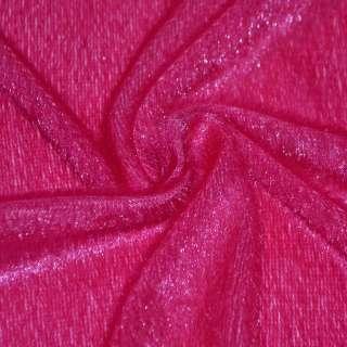 мех иск. малиновый однотонный, ш.150