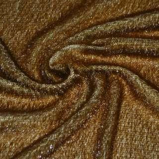 Мех искусственный коричнево-рыжий, ш.150