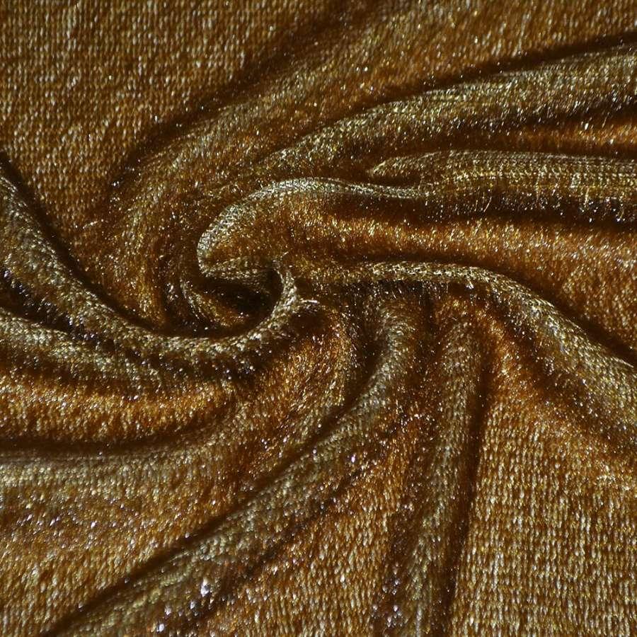мех иск. коричнево-рыжий однотонный, ш.150