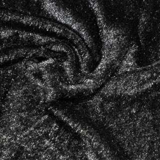 мех иск. черный однотонный, ш.150