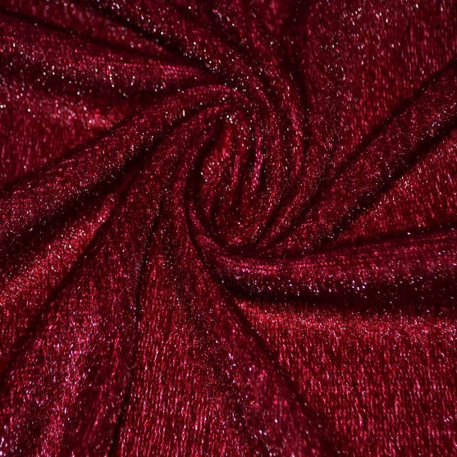 мех иск. вишневый однотонный, ш.150