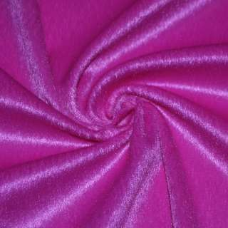 Мех искусственный коротковорсовый ярко-розовый, ш.150