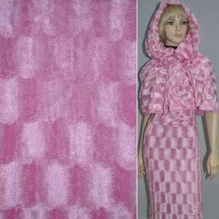 Мех искусственный коротковорсовый розовый