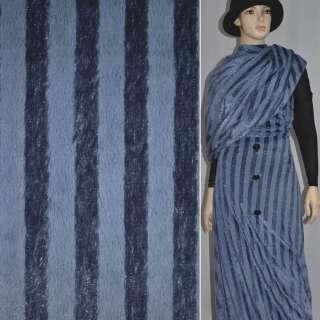 Мех искусственный фиолетовый полосы с блестками, ш.150