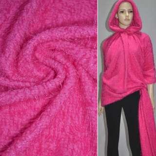 Мех вязан. ярко-розовый ш.163