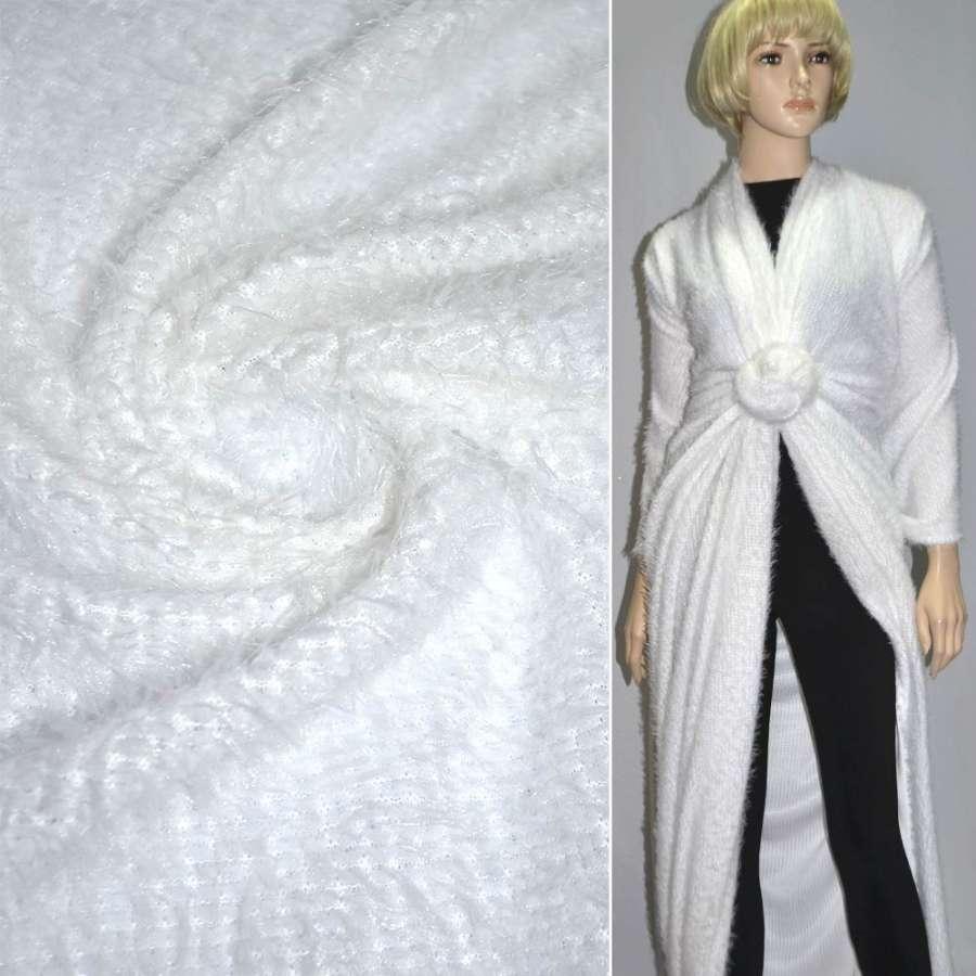 Мех вязан. белый ш.160