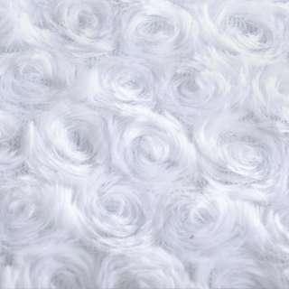 """Мех искусственный белый """"розочки"""" ш.160"""
