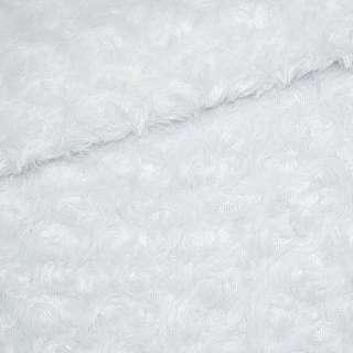 """Мех искусственный белый """"розочки"""" ш.165"""