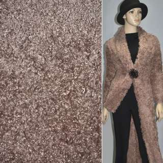 """Мех коричневый с розовым оттенком под """"барашка"""" ш.160"""