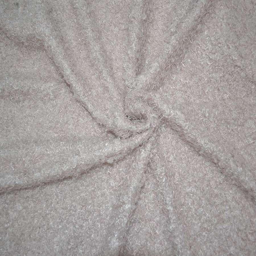 """мех бледно-розовый  под """"барашка""""  ш.155"""