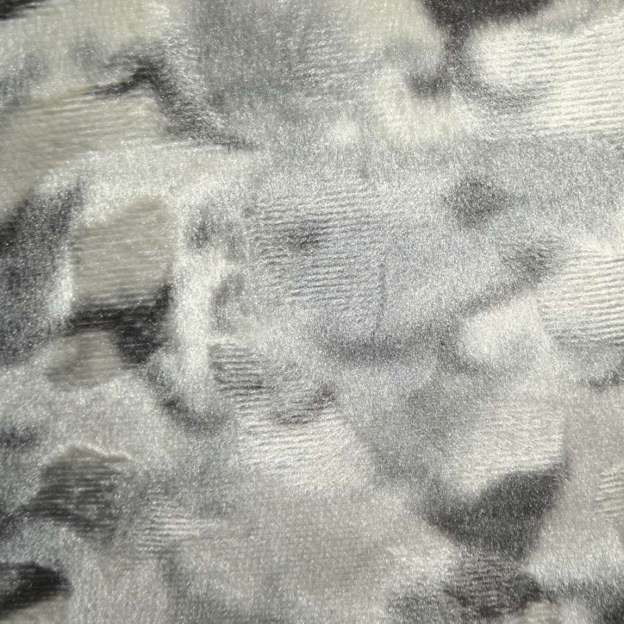 мех светло-серый с белым рисунком коротковорс.