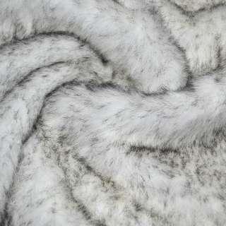 мех иск. д/в белый с черными ворсинками, ш.150