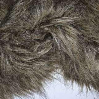 мех бежево-коричневый с черным  д/ворс  ш.155