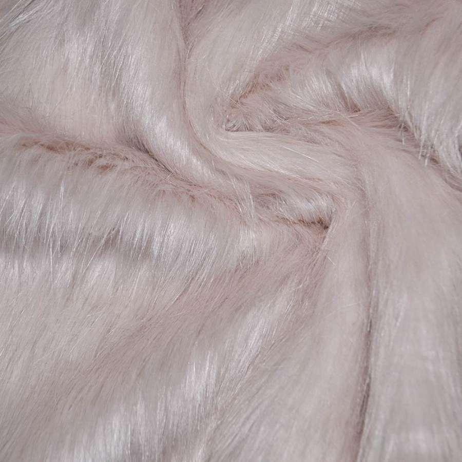 мех бледно-розовый  дл./ворсный ш.170