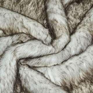 мех белый с коричневым ворсом (ср./ворсный) ш.170