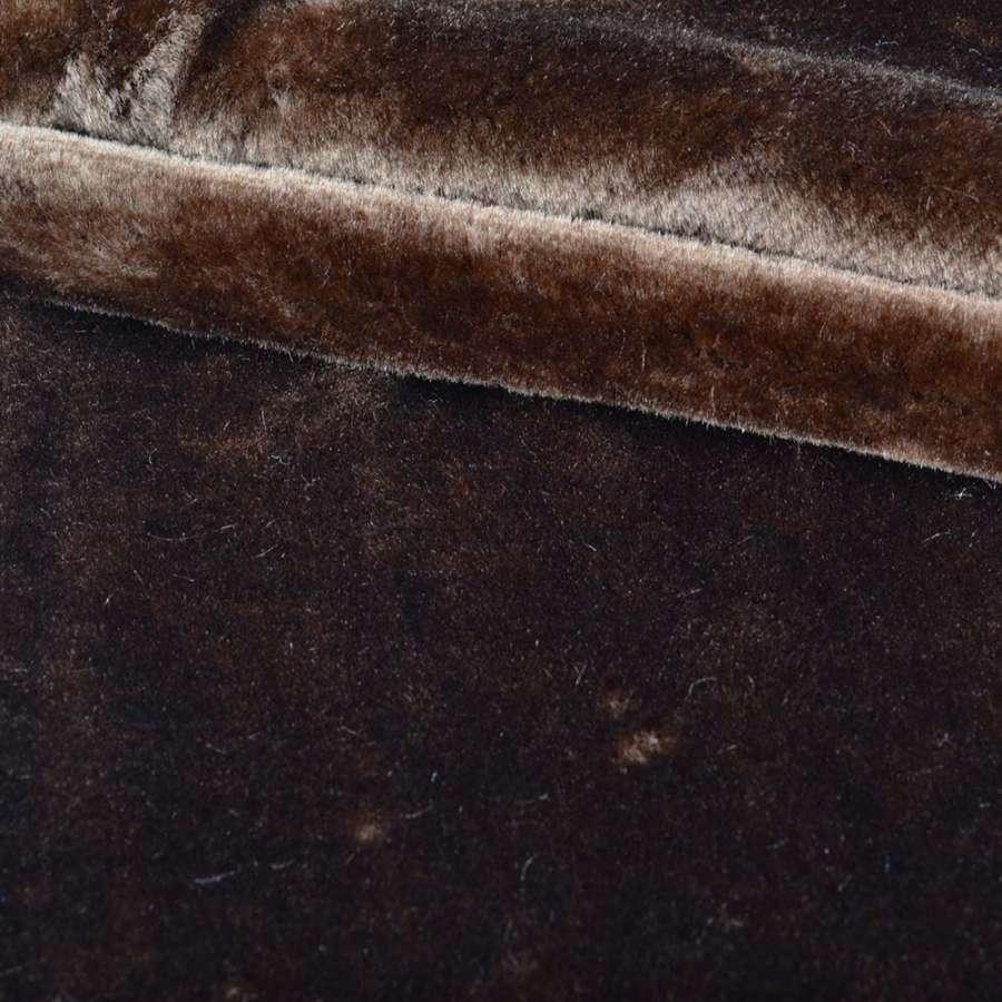 мех искуст. средне-ворсный коричневый (мутон) ш.172