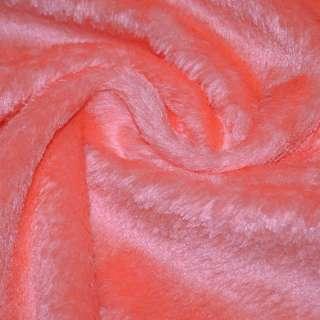 мех иск. оранжев.с бел. отлив.однотонный, ш.150
