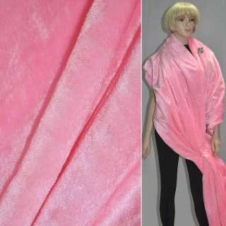 Мех искусственный коротковорсовый розовый ш.160