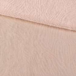 Мех мутон с тиснением молочно-персиковый, ш.160