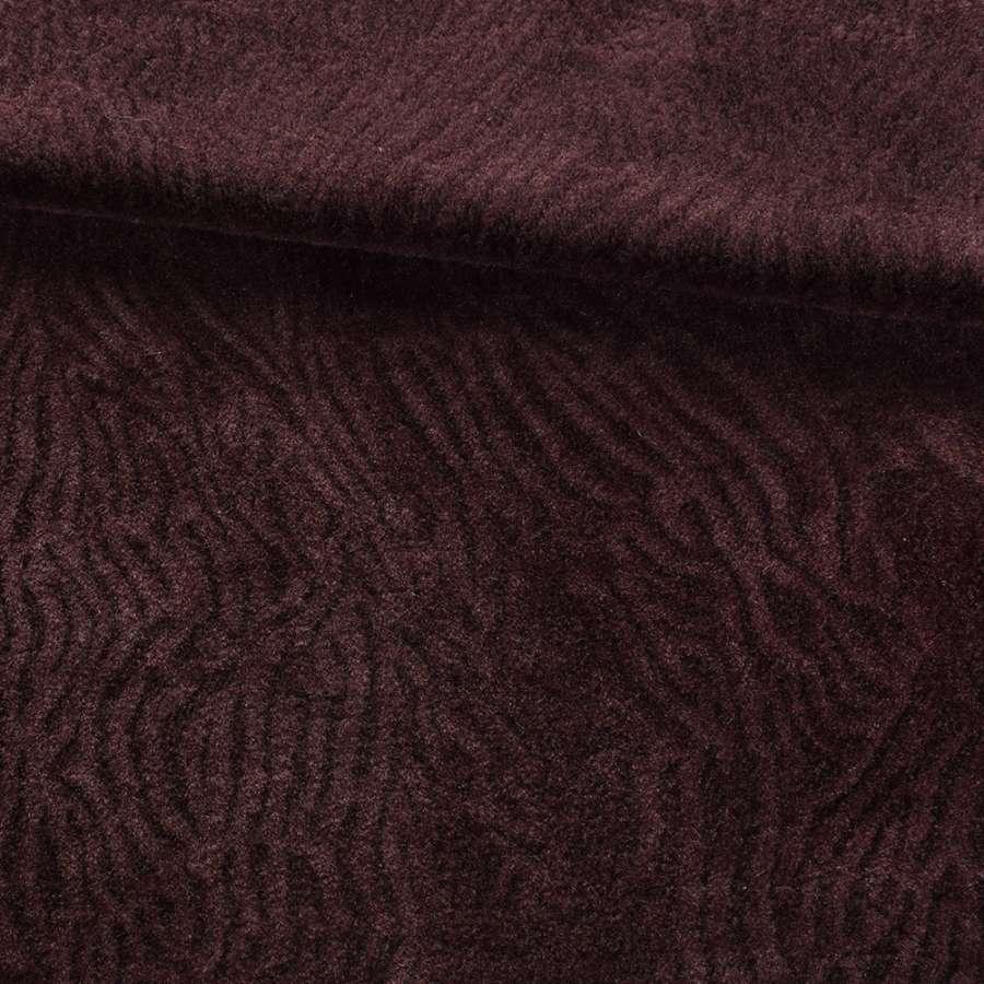 Мех мутон с тиснением коричневый темный, ш.160