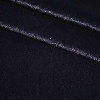 Хутро штучне коротковорсове темно-синє ш150