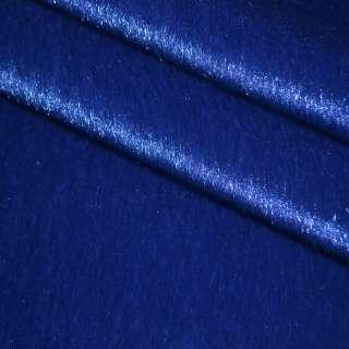 Хутро штучне коротковорсове темно-синє, ш.150