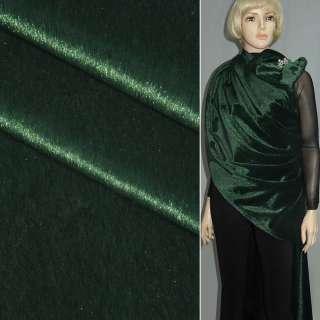 Хутро штучне коротковорсове темно-зелене, ш.150