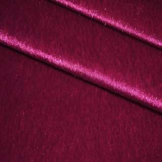 Хутро штучне коротковорсове темно-малинове, ш.150
