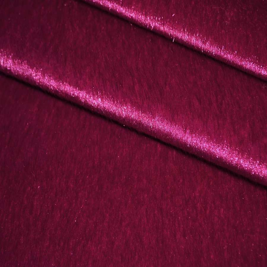 мех к/в темно-малиновый однотонный, ш.150