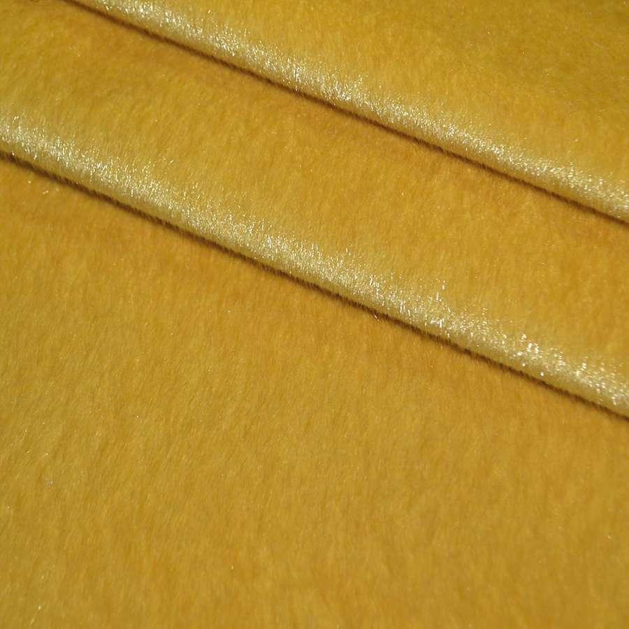 мех к/в оранжево-желтый однотонный, ш.150