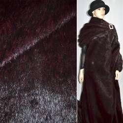 мех с/в темно-бордовый с черным ворсом, ш.150