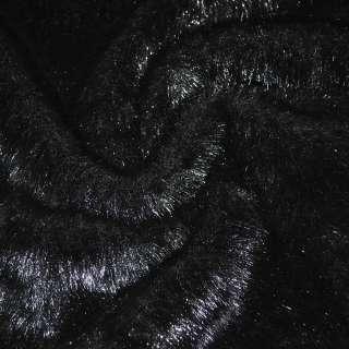 Хутро штучне середньоворсове чорне ш.170