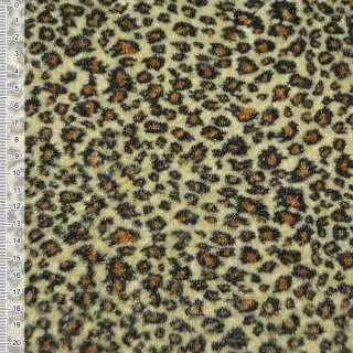 Велюр светло желтый принт леопард ш.150
