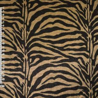 Велюр золотисто черный зебра ш.150