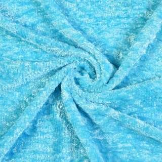 Велюр (травка) голубая