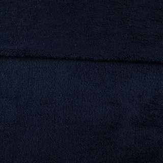 Мех искусственный овчина тонкий синий темный ш.175