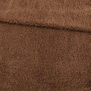 Мех искусственный овчина тонкий коричневый светлый ш.173