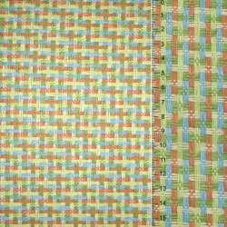 Рогожка из целюлозы на флизе с цв. перепл: зелено- оранжево-голубая, ш.150