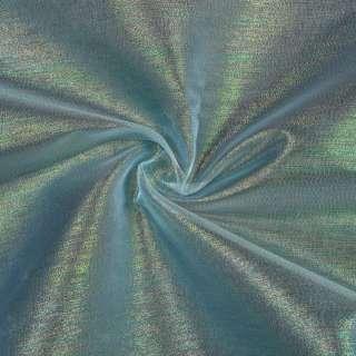 Органза блакитна в різнокольорові метаніті, ш.150