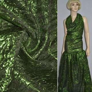 парча жатая темно-зеленая, ш.130