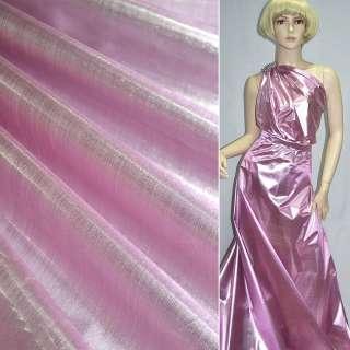 парча рожево-сріблястий. гладка ш.150