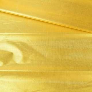 Парча зеленое золото гладкая ш.150