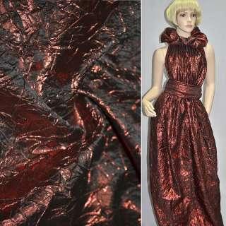 Парча жатая темно-красная, ш.130 см