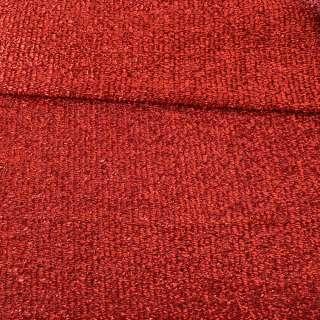 Мерцающий трикотаж из мягкой мишуры красный, ш.155